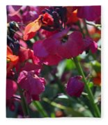 Bumble Bee Among The Wallflowers IIi Fleece Blanket