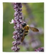 Bumble On Sage Fleece Blanket