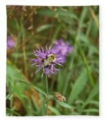 Bumblebee On Flower Fleece Blanket
