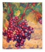 Bunch Of Grapes Fleece Blanket