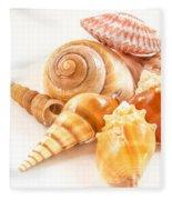 Bunch Of Shells Fleece Blanket