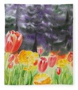 Bunch Of Tulips I Fleece Blanket