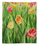 Bunch Of Tulips II Fleece Blanket