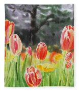 Bunch Of Tulips IIi Fleece Blanket