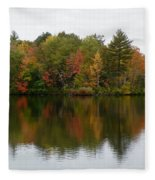 Bunganut Lake Foliage 4 Fleece Blanket