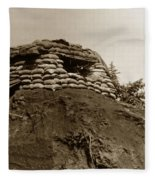 Bunker Above The Dak Poko River Near Dak To Kontum Province Vietnam 1968 Fleece Blanket