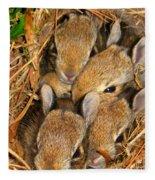 Bunny Babies Fleece Blanket