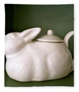 Bunny Teapot  Fleece Blanket