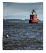 Buoy What A Lighthouse Fleece Blanket
