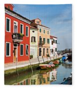 Burano, Venice Fleece Blanket