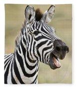 Burchells Zebra Equus Quagga Burchellii Fleece Blanket