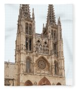 Burgos Cathedral Spain Fleece Blanket