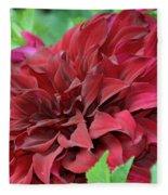Burgundy Dahlia Fleece Blanket