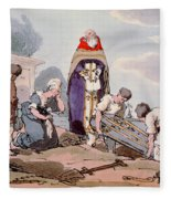 Burial, Etched By The Artist, Published Fleece Blanket