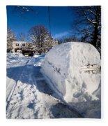 Buried In Snow Fleece Blanket