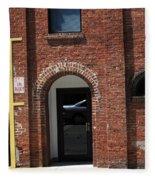 Burlington North Carolina - Brick Entrance Fleece Blanket