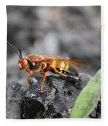 Burn Pile Bee Fleece Blanket