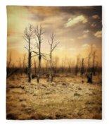 Burned Out Forest Fleece Blanket