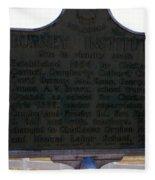 Burney Institute Historical Sign Fleece Blanket