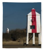 Burnham-on-sea Lighthouses Fleece Blanket