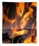 Burning Fleece Blanket