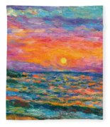 Burning Shore Fleece Blanket