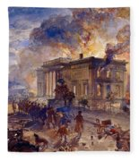 Burning Temple Of The Winds, 1856 Fleece Blanket