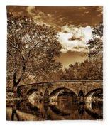 Burnside Bridge At Antietam - Toned Fleece Blanket