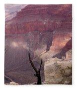 Burnt Tree Fleece Blanket