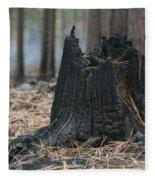 Burnt Tree Trunk Fleece Blanket