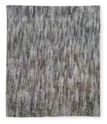 Burnt Trees Abstract II Fleece Blanket