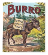 Burro Quality Of Cigars Label Fleece Blanket
