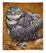 Burrowing Owl Portrait Fleece Blanket
