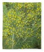 Bursting Dill Plant Fleece Blanket
