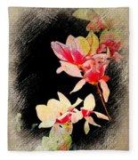 Bursting Magnolias Fleece Blanket