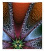 Bursting Star Nova Fractal Fleece Blanket