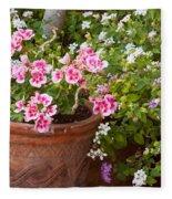 Bursting With Blooms Fleece Blanket