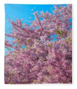 Bursting With Blossoms With A Hint Of Green Fleece Blanket