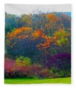 Bursting With Color 1 Fleece Blanket