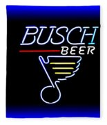 Busch And The Blues Edited Fleece Blanket