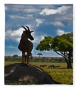 Bushbuck Guard Of The Mound   Fleece Blanket