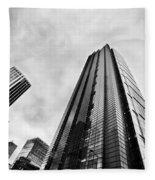 Business Architecture Skyscrapers In London Uk Fleece Blanket