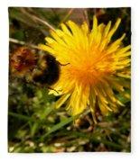 Bussy Bee And Dandelion Fleece Blanket