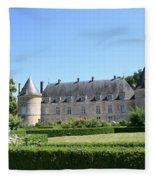 Bussy - Rabutin Palace Garden  Fleece Blanket