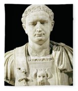 Bust Of Emperor Domitian Fleece Blanket