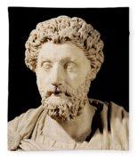 Bust Of Marcus Aurelius Fleece Blanket