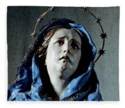 Bust Of Painful Virgin Fleece Blanket