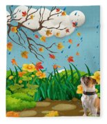 Buster And The Tree Fleece Blanket