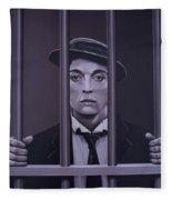 Buster Keaton Painting Fleece Blanket