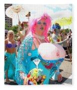 Busty Mermaid Fleece Blanket